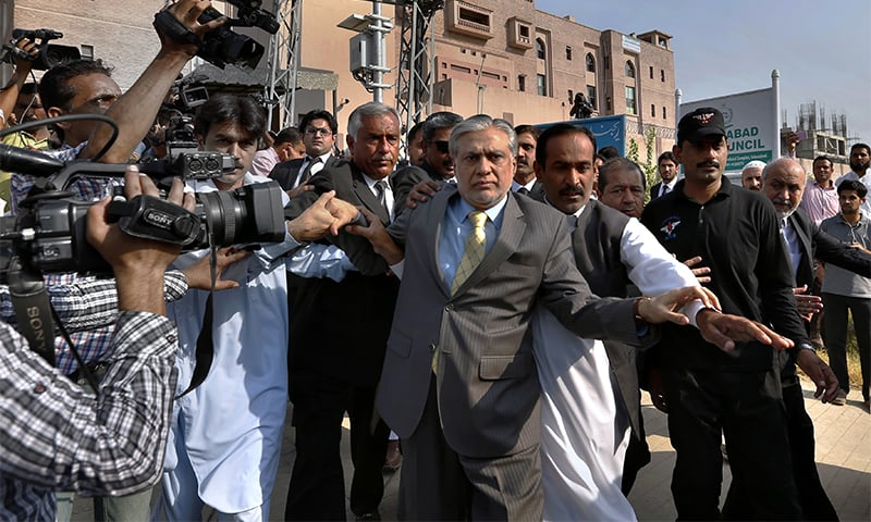 http://www.awwaaz.com/images/stories/Accountability court rejects Dar's plea for exemption from appearance